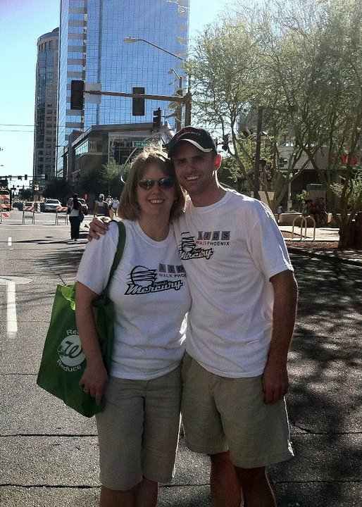 Julie and Chad at Aunt Rita's AIDS Walk Phoenix 2010